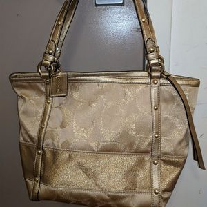 Gold Coach Bag- Brand New